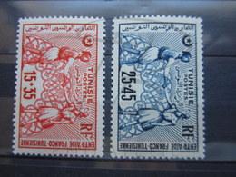 VEND BEAUX TIMBRES DE TUNISIE N° 335 + 336 , X !!! - Tunisie (1888-1955)