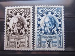 VEND BEAUX TIMBRES DE TUNISIE N° 356 + 357 , X !!! - Tunisie (1888-1955)