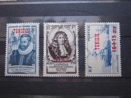 VEND BEAUX TIMBRES DE TUNISIE N° 310 - 312 , X !!! - Tunisie (1888-1955)