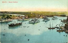 Malte - Grand Harbour - Grand Port - Lot De 2 Cartes Postales  (voir Scan) - Malta