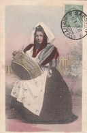 SENNORI-SASSARI-COSTUME TRADIZIONALE-CARTOLINA-OBLITERATA IL 7-4-1926 - Sassari