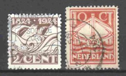 Netherlands 1924 NVPH 139-140 Canceled - Period 1891-1948 (Wilhelmina)