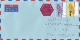 GOOD UAE Postal Cover To ESTONIA 2018 - Good Stamped: Birds - Emirats Arabes Unis
