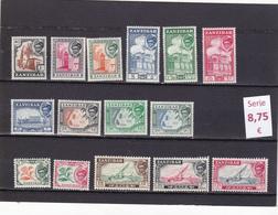 Zanzibar  -  Serie Completa Nueva**   -  9/8017 - Zanzibar (1963-1968)
