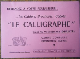 Buvard Le Calligraphe - Rose - Stationeries (flat Articles)
