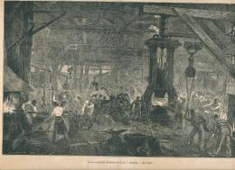 1861 : Etablissements Derosne Et Cail à Grenelle, Usine, Forge, Acierie, Fabrique De Locomotives, Page Originale - Vieux Papiers
