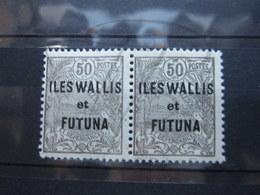 VEND BEAUX TIMBRES DE WALLIS ET FUTUNA N° 25 EN PAIRE , XX !!! - Wallis-Et-Futuna