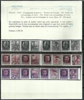 ITALIA REGNO ITALY KINGDOM REPUBBLICA SOCIALE RSI 1944 PROPAGANDA DI GUERRA FASCIO DOPPIO SERIE COMPLETA MNH CERTIFICATO - 4. 1944-45 Repubblica Sociale