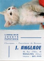 Calendriers > Petit Format : 1961-70 Librairie J. ANGLADE 48 Rue D Allier - Calendars