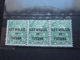 VEND BEAUX TIMBRES DE WALLIS ET FUTUNA N° 40 EN BANDE DE 3 , XX !!! - Wallis-Et-Futuna