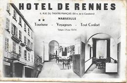 MARSEILLE 9 RUE DU THEATRE FRANCAIS HOTEL DE RENNES CARTE INEDITE - The Canebière, City Centre