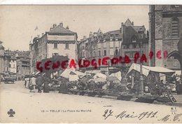 19 - TULLE - LA PLACE DU MARCHE   1911-CORREZE - Tulle