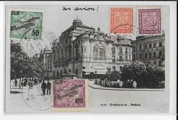 TCHECOSLOVAQUIE - 1930 - CARTE Par AVION De BRATISLAVA => BORDEAUX - POSTE AERIENNE - Czechoslovakia