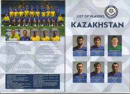 UEFA NATIONS LEAGUE 2018/19. ANDORRA-KAZAKHSTAN, BOOKLET 16 PAGES LUXE, Disponible Seuls Aux Tickets VIP - Kazakhstan