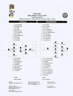 UEFA NATIONS LEAGUE 2018/19. ANDORRA Vs KAZAKHSTAN, Line-ups, Final Tournament List 10 Sept 2018 ESTADI NACIONAL - 1950-Now