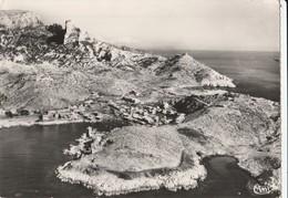 CPSM 13  MARSEILLE CALANQUE LES GOUDES   VUE AERIENNE - Quatieri Sud, Mazarques, Bonneveine, Pointe Rouge, Calanques