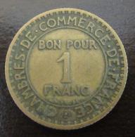 Monnaie 1 Franc Chambres De Commerce 1920 - TTB - France