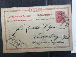 Luxembourg Carte Ambulant Bahnpost Basel Lux - Entiers Postaux