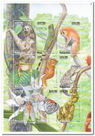 Madagaskar 1999, Postfris MNH, Animals, Flowers, Orchids - Madagaskar (1960-...)