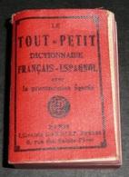 Rare Ancien Livre Miniature, Le Tout-Petit Dictionnaire GARNIER 1960's Français-Espagnol - Dictionnaires