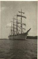 PLAINBACK REAL PHOTO VIKING   BARCO BOAT Voilier - Velero Sailboat Navire A Voile - Veleros