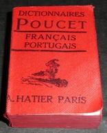 Rare Ancien Livre Miniature, Dictionnaire, Dictionnaires HATIER 1960's Français-Portugais - Dictionaries