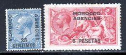 Maroc Anglais Zone Espagnol 1914 Yvert 42 - 45 (*) TB Neuf Sans Gomme - Uffici In Marocco / Tangeri (…-1958)