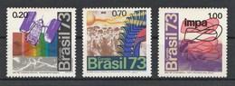 BRESIL 1973 - Yvert N° 1038 à 1040* - Série Complète - Brazil