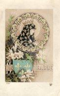 Se Jeanne (Jeanne D'Arc) Style Art Nouveau Fleurs De Lys - History