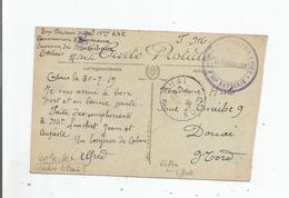 CARTE AVEC CACHET MILITAIRE 1 ER REGT D'ARTILLERIE A PIED 45 E BATTERIE CIRCULEE 1919 - Marcophilie (Lettres)
