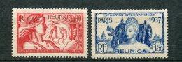 8489  REUNION   N°153/4 (*) 90c Et 1F50 Exposition Internationale De Paris     1937  TTB - Réunion (1852-1975)