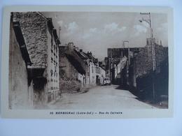 Carte Postale Ancienne De Herbignac Rue Du Calvaire - Herbignac