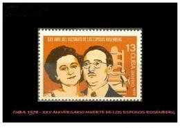 CUBA/KUBA 1978 25° ANIV. DE LA MUERTE DE LOS ESPOSOS ROSENBERG MNH - Kuba