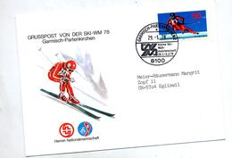 Lettre Fdc 1978 Garmisch Championnat Monde Ski - FDC: Enveloppes