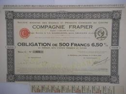Cie FRAPIER LA MADELEINE Pres ORLEANS 1922 - Banque & Assurance