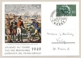 Schweiz - 1949 - 10c UPU - Tag Der Briefmarke - Local Use Vevey - Briefe U. Dokumente