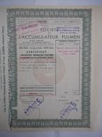 L'ACCUMULATEUR FULMEN 1963 - Autres