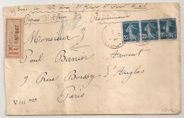 SAINT HILAIRE SAINT FLORENT Maine Et Loire. Mention  PAPIERS D'AFFAIRES Recommandés. TARIF 75C. 1920 - Postmark Collection (Covers)