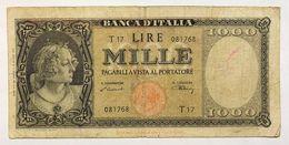1000 LIRE ITALIA 20 03 1947 TESTINA Pressata MB  RARA LOTTO 2315 - 1000 Lire