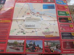 Amsterdam Dépliant Publicitaire MAP City Sightseeing-Titre Transport-Ticket 24H Voyage Billet Embarquement Bateau Lovers - Billets D'embarquement De Bateau