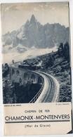 Chamonix (74 Haute Savoie)   Chemin De Fer   Chamonix-Montenvers   (PPP9174) - Tourism Brochures