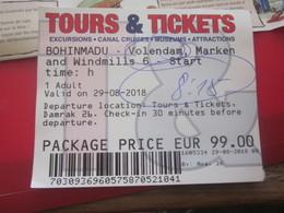 Amsterdam -Titre De Transport-Tours & Ticket Pour Plusieurs Voyages Illimités 24H Billet D'Embarquement Bateau Lovers - Billets D'embarquement De Bateau