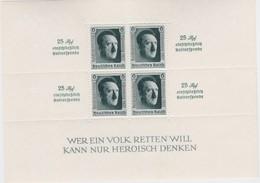 Deutsches  Reich   .    Michel   .     Block  11      .        **        .      POSTFRISCH    .  /   .   MNH - Blocks & Kleinbögen