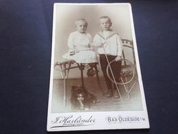 SUESSES GESCHWISTERPAAR - BAD OLDESLOE I. H: - F. HARLAENDER - Identifizierten Personen