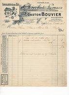 Facture à Entete : CHOCOLATERIE De L'EST Chocolat Lorrain GASTON BOUVIER 1906 - Alimentaire