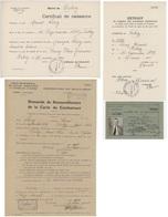 Carte De Combattant + Courriers De Demande Judaïca Colmar Orbey - Documents Historiques