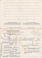 Kriegsgefangenenpost Prisonnier 1942 Stalag 325 Rawa-Ruska Feldpost 08 499 +réponse+ Censures Vers Suisse (2 Scans) - Documents