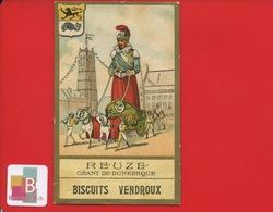 Biscuits VENDROUX Chromo Dorée Didactique Reuze Géant Dunkerque - Vendroux