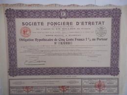 Fonciere D'ETRETAT  1920  SEIME MARITIME - Industrie