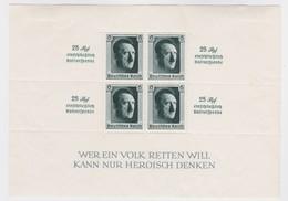 Deutsches  Reich   .    Michel   .   Block   9  (Marken  ** )     .   *     .  Ungebraucht Mit Gummi Und Falz - Deutschland